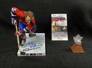 Larry Robinson Signed Montreal Canadiens Conn Smythe McFarlane Figure JSA COA