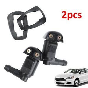 Universal Car Front Washer Sprayer Jet Sprinkler Windscreen Wiper Nozzle Plastic