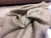 "10 Yards Of 60""Wide 8 Oz. Standard Burlap Natural Jute Fabric Vintage Upholstery"