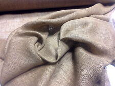 "10 Yards Of 72"" W 8 oz Standard Burlap Natural Jute Fabric Vintage Upholstery"