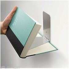 Umbra CONCEAL Invisible Floating BOOK SHELF - SMALL Silver