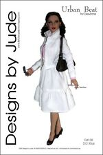 "Urban Beat Doll Clothes Sewing Pattern 17"" Athletic Body De De & DeeAnna Tonner"