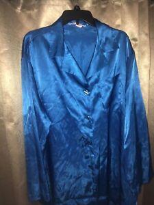 Victoria's Secret Satin Nightshirt Sleep Nightgown Button Up Ex Large