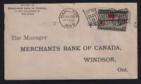 Canada 1899 2c Map Muddy Waters Hamilton Flag Cancel Advertising Cover Windsor