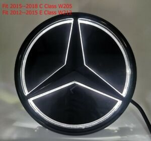 Illuminated LED Light Front Grille Mirror Star Emblem For Mercedes Benz C E W212