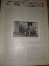 Printed photo Earl of Warwick and friends Easton Lodge with car 1903 ref Z