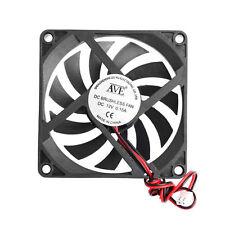 12V 80x80x10mm 2-Pin PC Computer CPU System Heatsink Brushless Cooling Fan 8010