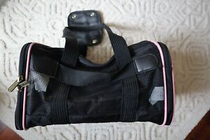 Black w/Pink Trim SHERPA Travel Pet Carrier Small