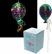 Glass Hanging LED Balloon | Light Party | Gift | Christmas Lights FREE BATTERIES