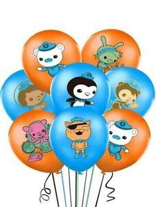 10PCS 12`` Octonauts Printed Latex Balloons Birthday Party Decoration