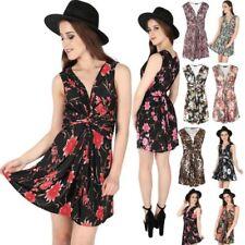 Swing Mini Sleeveless Dresses for Women
