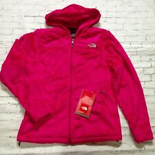 North Face Women's Oso Hoodie Fleece Jacket Coat Hood Passion Pink Medium NWT