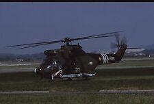 Original colour slide SA.330B Puma (sharkmouth marks) 052/BSV of French Army