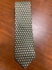 Valerio Garati Pure Silk Handmade 4in Wide Men's Tie - Black and Gold