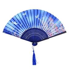 Chinese Japanese Folding Bamboo Silk Hand Dance Fan Dancing Party Wedding Fan Us