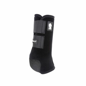 CLASSIC EQUINE Legacy2 Black Front Protective Boots (CLS102BK)