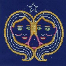 DMC BK1864 Gemini - Signs of the Zodiac Cross Stitch Kit by Emily Peacock