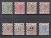 C2903/ BRITISH ST LUCIA – VICTORIA – 1883 / 1898 MINT CLASSIC LOT – CV 360 $