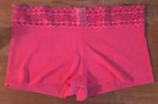 Calvin Klein Ladies Pink Lace Topped Mid Rise Shorts Knickers size Large (14+)