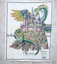 Rare Vintage Cross stitch completed in 1998 depicted pattern The Castle