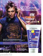 PUBLICITE ADVERTISING 096  2005  l'Oréal studio gel David Guetta Marathon Danse