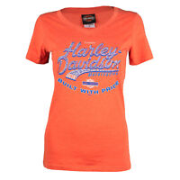 Sturgis Harley Davidson® Women's Custom Factory Orange Short Sleeve T-Shirt