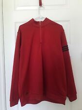 Adidas Climalite Golf Pullover XL Red Long Sleeve Zipper Front