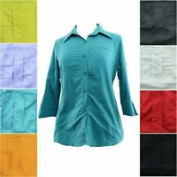 Columbia PFG Bonehead Shirt Women's 3/4 Sleeve Button Down Outdoor Fishing