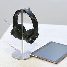 Solid Base Vinyl Edition Stainless Steel Headphones Stand Headset Hanger Sliver