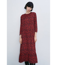 ZARA RED LEOPARD ANIMAL PRINT DRESS SIZE XL BNWT
