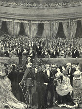 RECEPTION AT THE INTERNATIONAL EXHIBITION 1872 Bramley VICTORIAN ENGRAVING