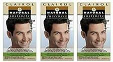 Set of 3 Clairol Natural Instincts For Men Haircolor Kit M17 Brown Black