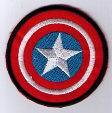 CAPTAIN AMERICA SHIELD SUPERHERO AVENGERS IRON ON OR SEW ON PATCH US SELLER