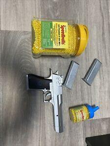 gr. Plastik SOFTAIR Pistole 351g 6mm Kaliber + BB Pellet ab 14 !
