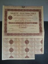 Bons au Porteur - Sté Electro-Câble - 1936