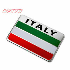 c9/2,   Auto Alloy Metal 3D Emblem Badge   Sticker  ITALY Italian Flag