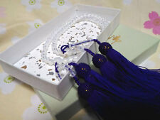 Japanese Milky Crystal Rosary Juzu Nenju with Tassel Buddhist J008