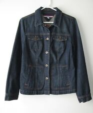 TOMMY HILFIGER Alamo Denim Jean Jacket Medium Wash Medium M 8 10 EUC