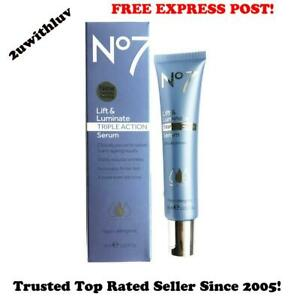 BOOTS NO 7 LIFT AND & LUMINATE TRIPLE ACTION SERUM 30ML *FREE EXPRESS POST*