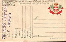 CARTOLINA MILITARE IN FRANCHIGIA 78° RGT FANTERIA LUPI DI TOSCANA C4-453
