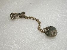 "Vintage 1940/50 Two-Piece Brooch - Lock & Key, connect by Chain - 4.5"" w/chain"