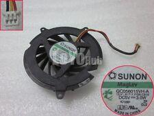 For HP DV5000 C300 C500 DV8000 Cooling Fan SUNON GC056015VH-A 3-Pin Magnetic