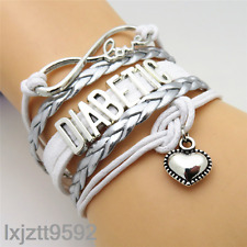 Infinity Love heart DIABETIC Bracelet charms bracelets jewelry friendship gifts