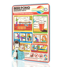 METAL SIGN Beer Pong Instructions Great Poster Beer Humorous GREAT Pub Decor