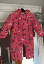 Joules Padded Pink Horse pony Snowsuit all-in-one age12-18 Months