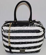 New Betsey Johnson Quilted Marshmellow Satchel Handbag Shoulder Bag Stripe