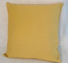 New elegant pale yellow gold colour patterened cushion covers 40cm 16'' BN