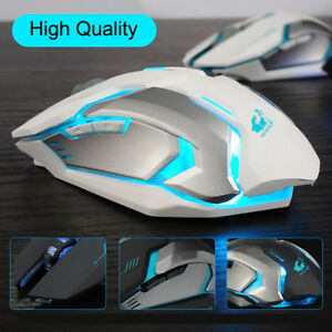 Rechargeable X7 Wireless Silent LED Backlit USB Optical Ergonomic Gaming Mouse X