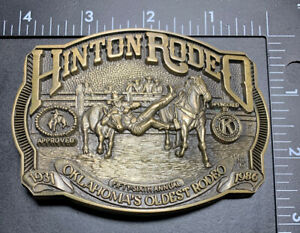 F- Hinton Rodeo Oklahoma Oldest 1931-1986 Limited Edition 103/250 Solid Brass