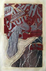 original AL HANSEN collage w Steven Leiber papers, custom framed MAIL ART FLUXUS